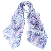 DLUX - Grace Wool/Silk Digital Print Scarf Pink