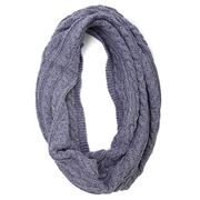 DLUX - Luca Cable Knit Loop Scarf Blue
