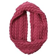 DLUX - Luca Cable Knit Loop Scarf Rosewood