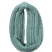 DLUX - Luca Cable Knit Loop Scarf Sage