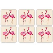 Portmeirion - Sara Miller Flamingo Coaster Set 6pce