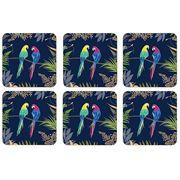 Portmeirion - Sara Miller Parrot Coaster Set 6pce