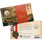 RA Mint - Centenary Of Treaty Of Versailles Unc. $1 Coin