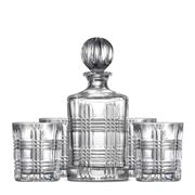 S & P - Bond Tartan Decanter & Tumbler Set 5pce