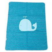 David Fussenegger - Blue Stripe Whale Bassinet Blanket