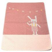 David Fussenegger - Jewel Bunny Bassinet Blanket Pink