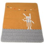 David Fussenegger - Gold Jewel Bunny  Bassinet Blanket