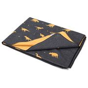 David Fussenegger - Charcoal  Dinosaurs Single Bed Blanket
