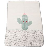 David Fussenegger - Green Cactus Panda Bassinet Blanket