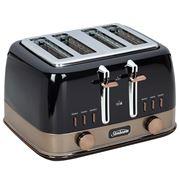 Sunbeam - New York Col. Four Slice Toaster TA4440 Blk/Bronze