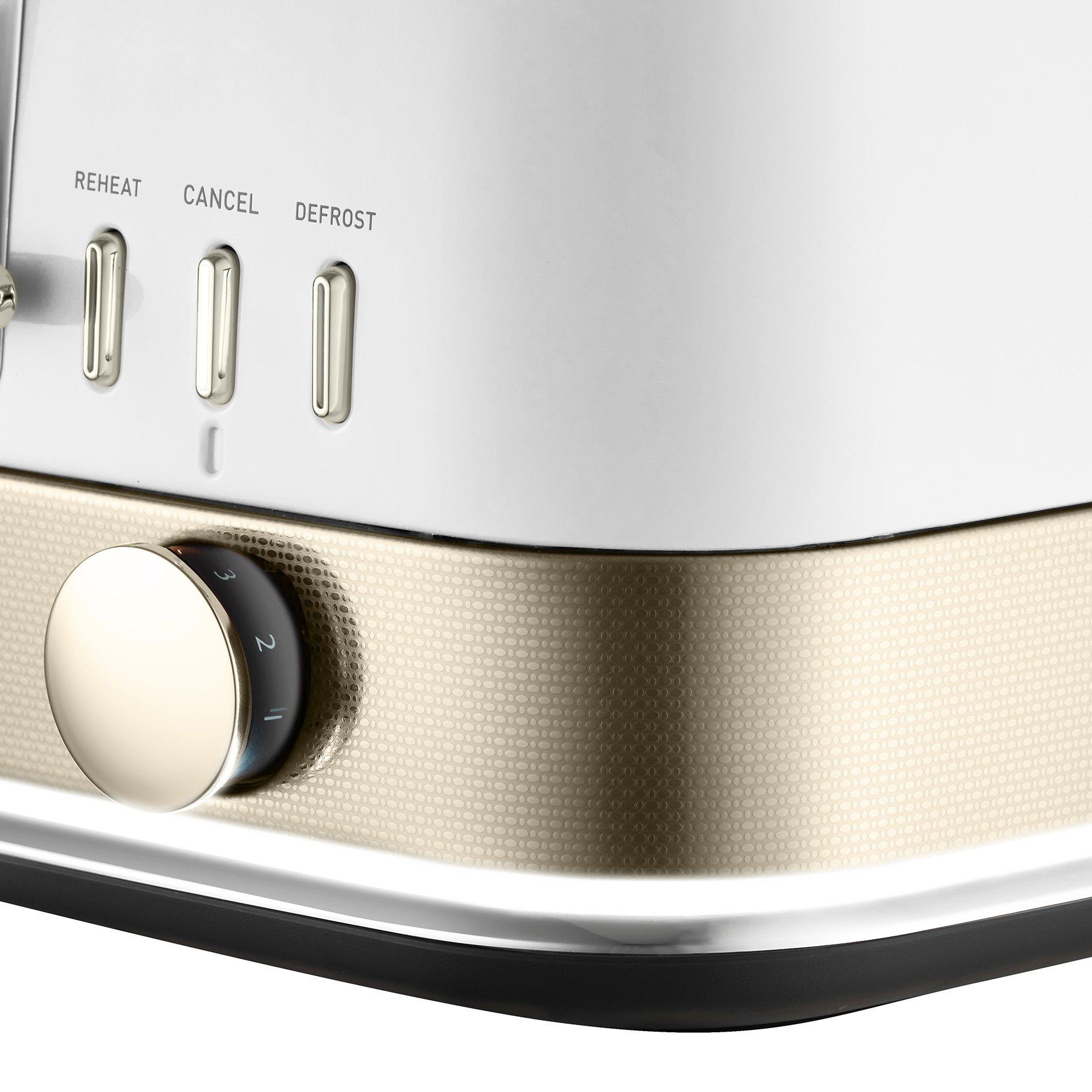 NEW Sunbeam New York Col Four Slice Toaster TA4440 White//Gold