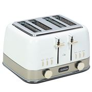 Sunbeam - New York Col. Four Slice Toaster TA4440 White/Gold