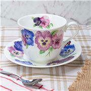 Roy Kirkham - Pansies Breakfast Cup & Saucer