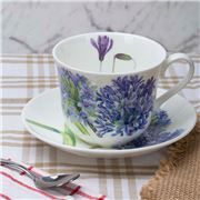 Roy Kirkham - Agapanthus Breakfast Cup & Saucer