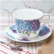 Roy Kirkham - Hydrangea Breakfast Cup & Saucer