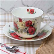 Roy Kirkham - Poppy Breakfast Cup & Saucer