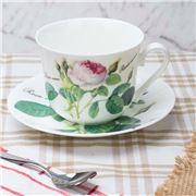 Roy Kirkham - Redoute Rose Breakfast Cup & Saucer