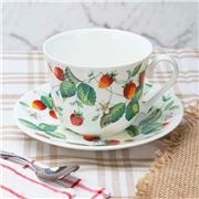 Roy Kirkham - Alpine Strawberry Breakfast Cup & Saucer
