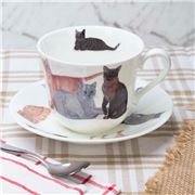 Roy Kirkham - Cats Galore Breakfast Cup & Saucer