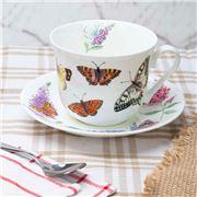 Roy Kirkham - Butterfly Garden Breakfast Cup & Saucer