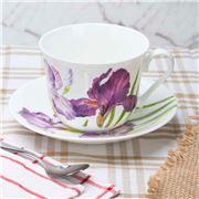 Roy Kirkham - Iris Breakfast Cup & Saucer