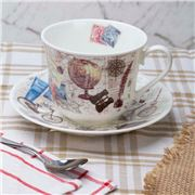 Roy Kirkham - Pastimes Breakfast Cup & Saucer
