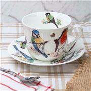 Roy Kirkham - Garden Birds Breakfast Cup & Saucer