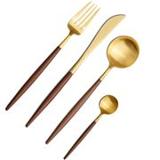 Cutipol - Goa Brown Matte Gold Canteen Set 24pce