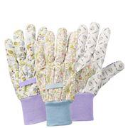 Briers - Lavender Garden Cotton Gloves Triple Pack  3pce