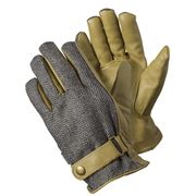 Briers - Leather Herringbone Gloves Grey Large