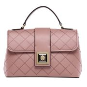 Serenade Leather - Teagan Quilted Leather Bag Pink