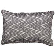 Cloth & Co - Chevron Ikat Lumbar Cushion Graphite