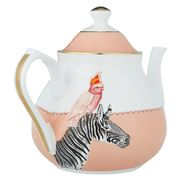 Yvonne Ellen - Teapot Zebra & Cockatoo 1L