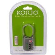 Korjo - TSA Flexicable Combination Lock Silver