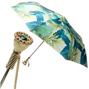Pasotti - Umbrella Folding Tropical White & Green