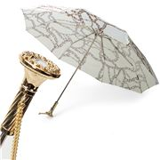 Pasotti - Umbrella Folding Chains White & Gold