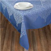 L'Ensoleillade - Luxe Valentine Tablecloth Bleu 200x160cm