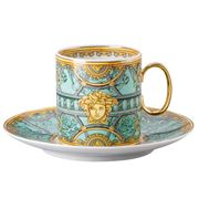 Rosenthal - Versace La Scala Palazzo Tall Cup & Saucer Verde