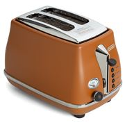 DeLonghi - Icona Vintage Two Slice Toaster CTO2003 Brown