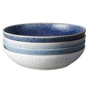Denby - Studio Blue Pasta Bowls Set 4pce