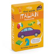 Lonely Planet - First Words Italian Flashcards 50pk