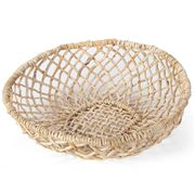 Papaya - Cicely Wide Woven Tray Small