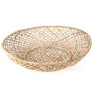 Papaya - Cicely Wide Woven Tray Large
