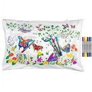 Eat Sleep Doodle - Butterfly Pillowcase