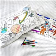 Eat Sleep Doodle - Space Explorer Pillowcase