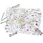 Eat Sleep Doodle - World Map Wraps 3pk