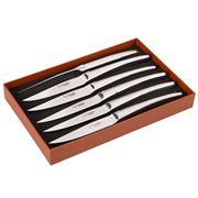 Laguiole - Stainless/S Steak Knives Set Monobloc Shiny 6pce