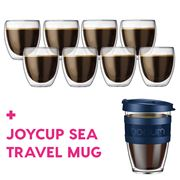 Bodum - Pavina Dbl-Wall Glass Pay 6 Get 8 + Joycup Sea