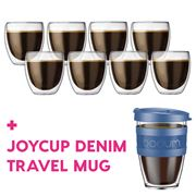 Bodum - Pavina Dbl-Wall Glass Pay 6 Get 8 + Joycup Denim