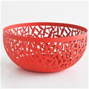 Alessi - Cactus Super Red Open Work Fruit Bowl Small